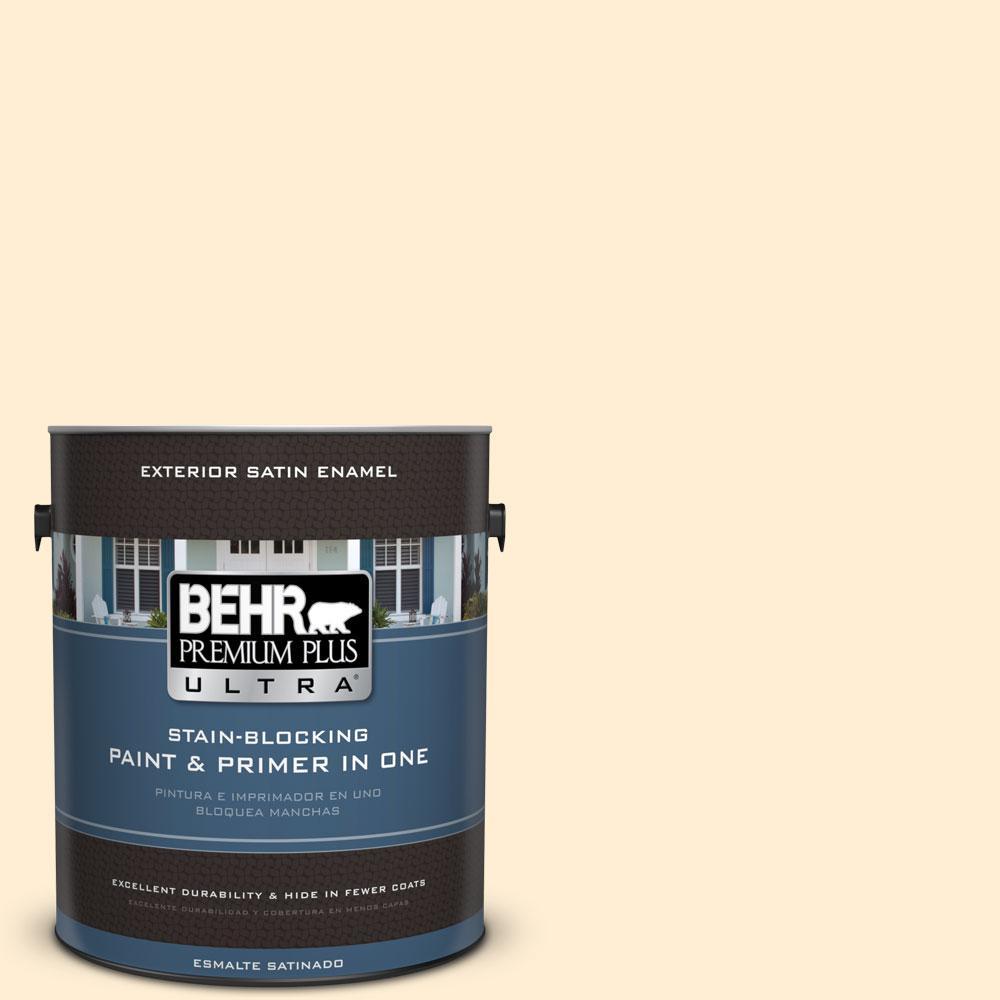 BEHR Premium Plus Ultra 1-gal. #M270-1 Pearly White Satin Enamel Exterior Paint