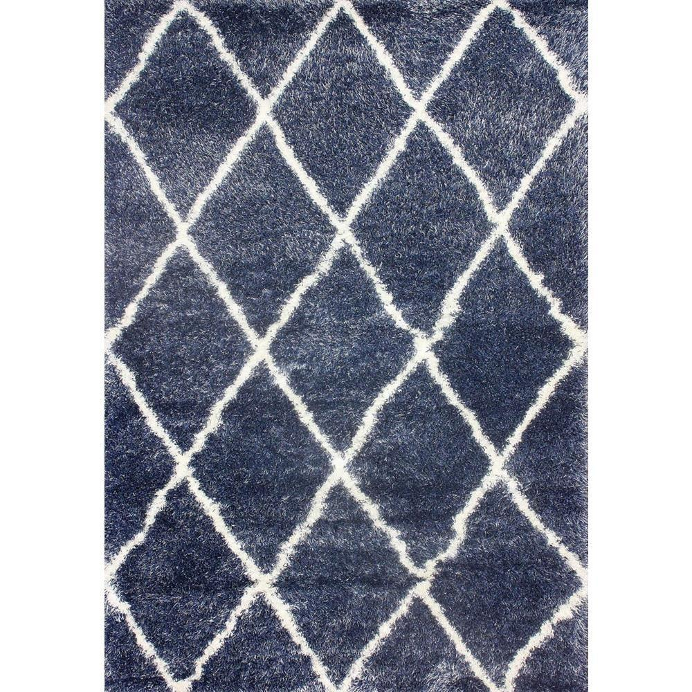 Nuloom Diamond Shag Blue 8 Ft X 10 Ft Area Rug Ozsg09e