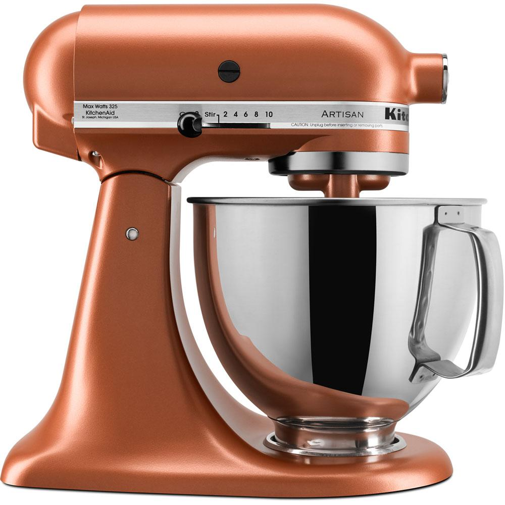 KitchenAid Artisan Series 5 Qt. Tilt-Back Head Stand Mixer in Copper on kitchenette mixer, black mixer, delonghi mixer, tea mixer, banbury mixer, breville mixer, 4hp kemper mixer, wooden mixer, keurig mixer, wonder woman mixer, wolfgang puck mixer, magic chef mixer, moulinex masterchef mixer, berkel mixer, ge mixer, maytag mixer, krups mixer, logitech mixer, koflo mixer, hamilton beach mixer,