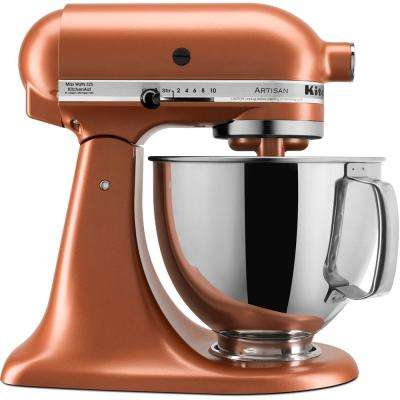 Artisan Series 5 Qt. 10-Speed Tilt-Back Copper Pearl Stand Mixer