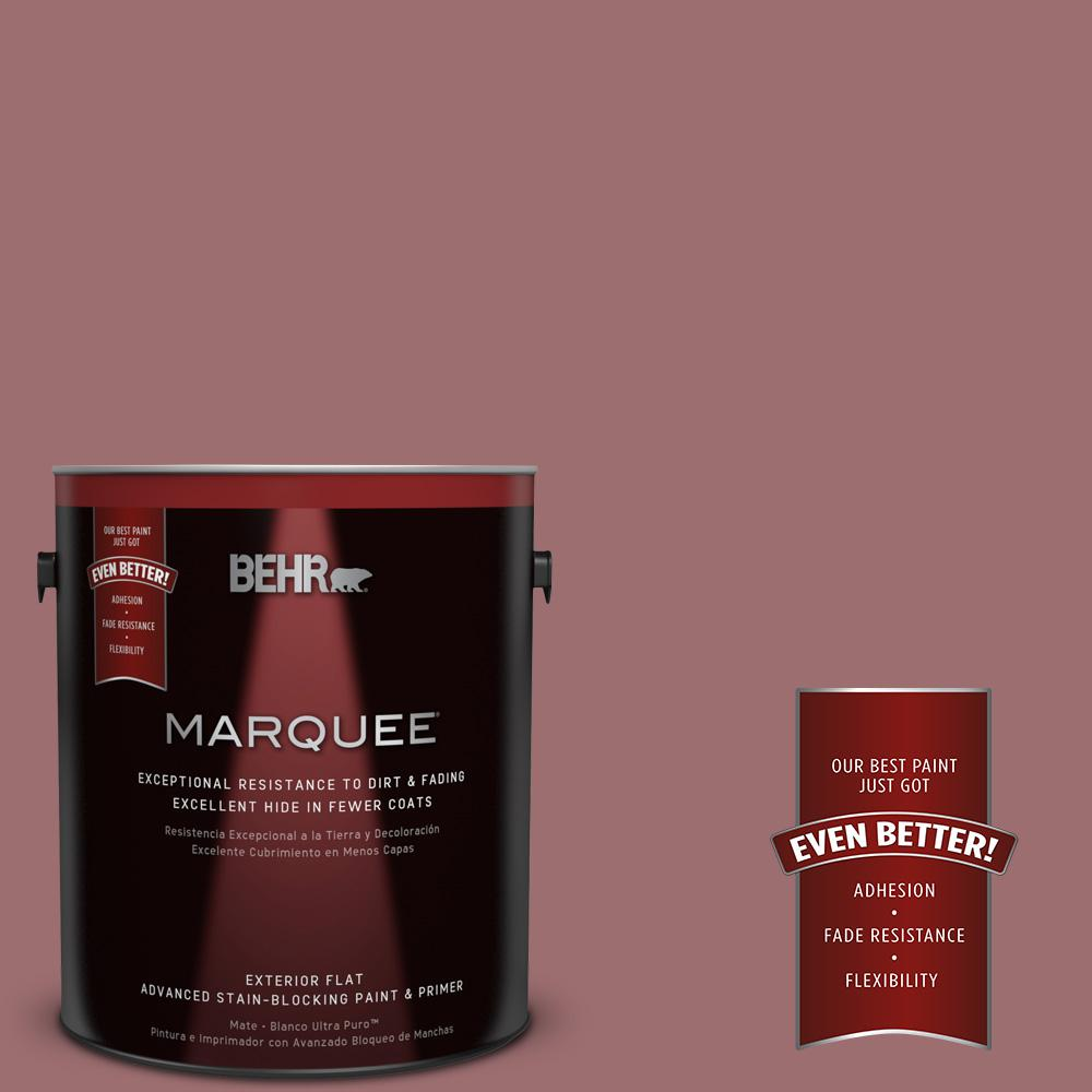 BEHR MARQUEE 1-gal. #150F-5 Mulled Wine Flat Exterior Paint