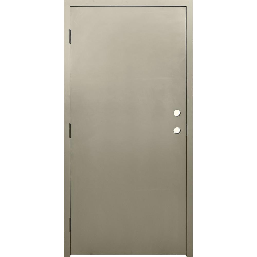 Metal Entry Doors And Frames : Krosswood doors in dks flush primed steel