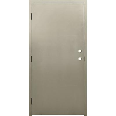 36 in. x 84 in. DKS Flush Primed Steel Prehung Commercial Door and Frame with Hardware