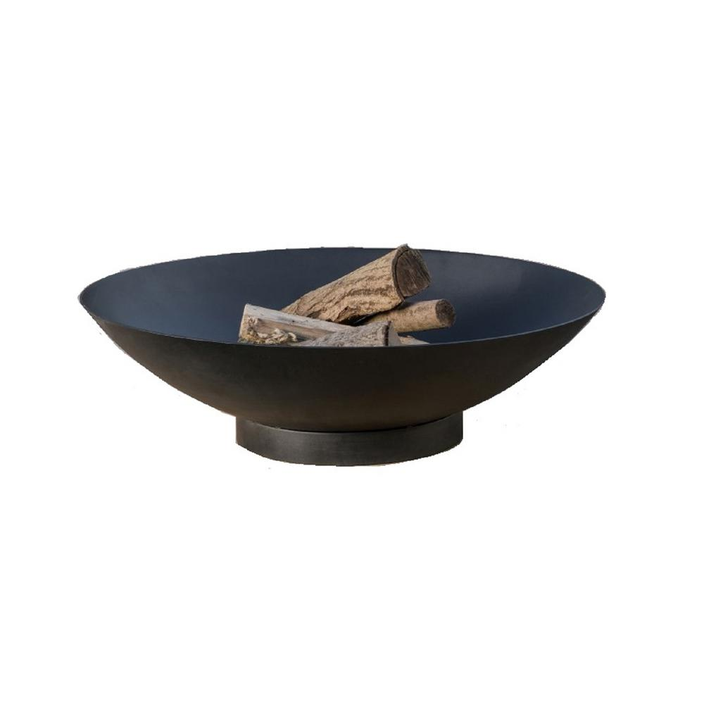 Muskoka Tureen 36 In X 11 Round Steel Wood Coal Fire Pit