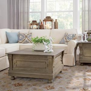 Home Decorators Collection Parker Washed Grey Storage End Table by Home Decorators Collection