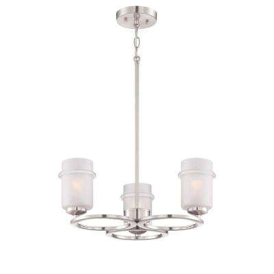 Omega 3-Light Satin Platinum Interior Incandescent Chandelier