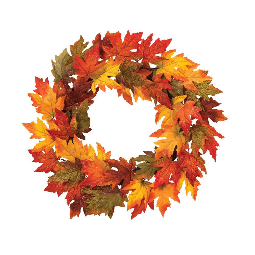 24 in. Fall Foliage Wreath