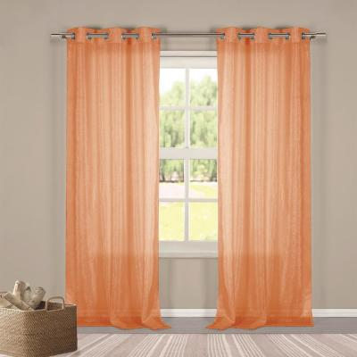 Metallico 40 in. W x 84 in. L Polyester Window Panel in Orange