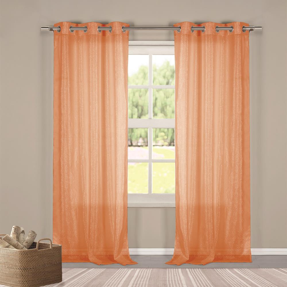 Metallico 40 in. W x 84 in. L Polyester Window Panel in Orange