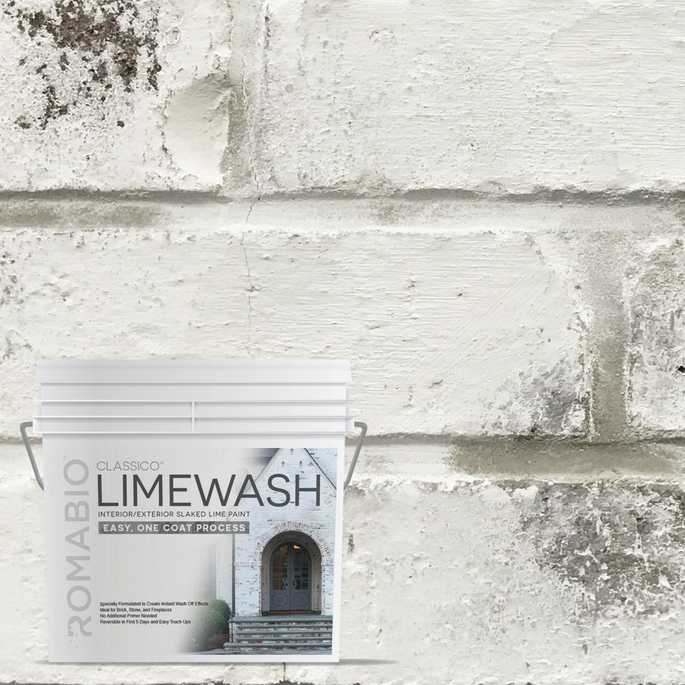0.67 gal. Avorio White Limewash Interior/Exterior Paint-1012E2 ...