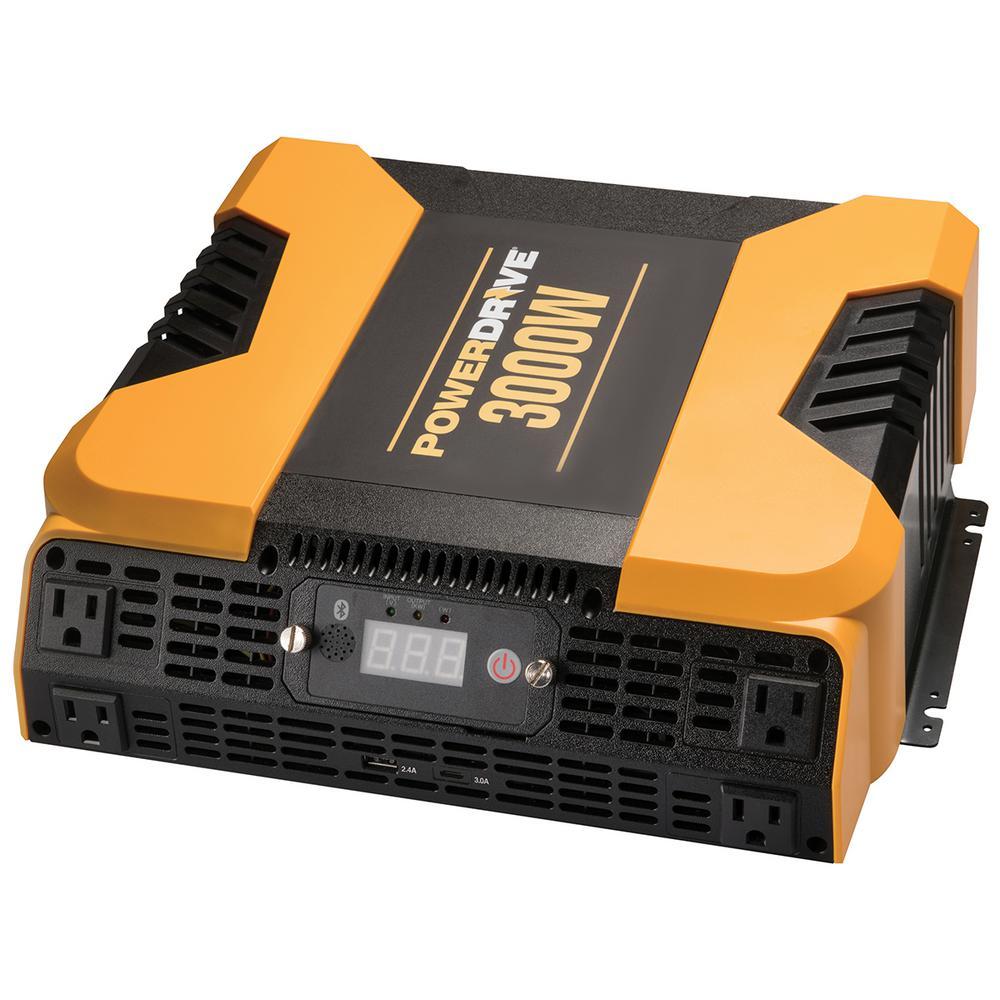 PowerDrive 3000-Watt Power Inverter with 4 AC 2 USB APP with Bluetooth