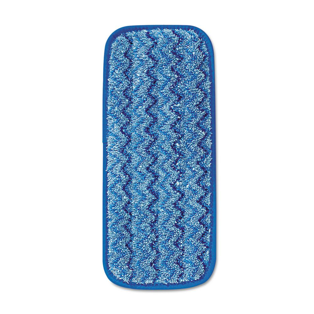Rubbermaid Commercial Products Hygen 11 In Microfiber Wall Stair Damp Mop Pad Rcpq820blu The Home Depot