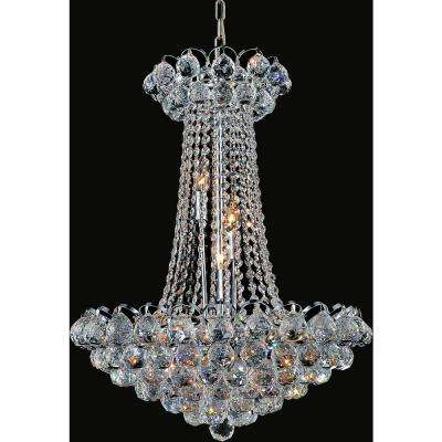 Glimmer 11-light chrome chandelier