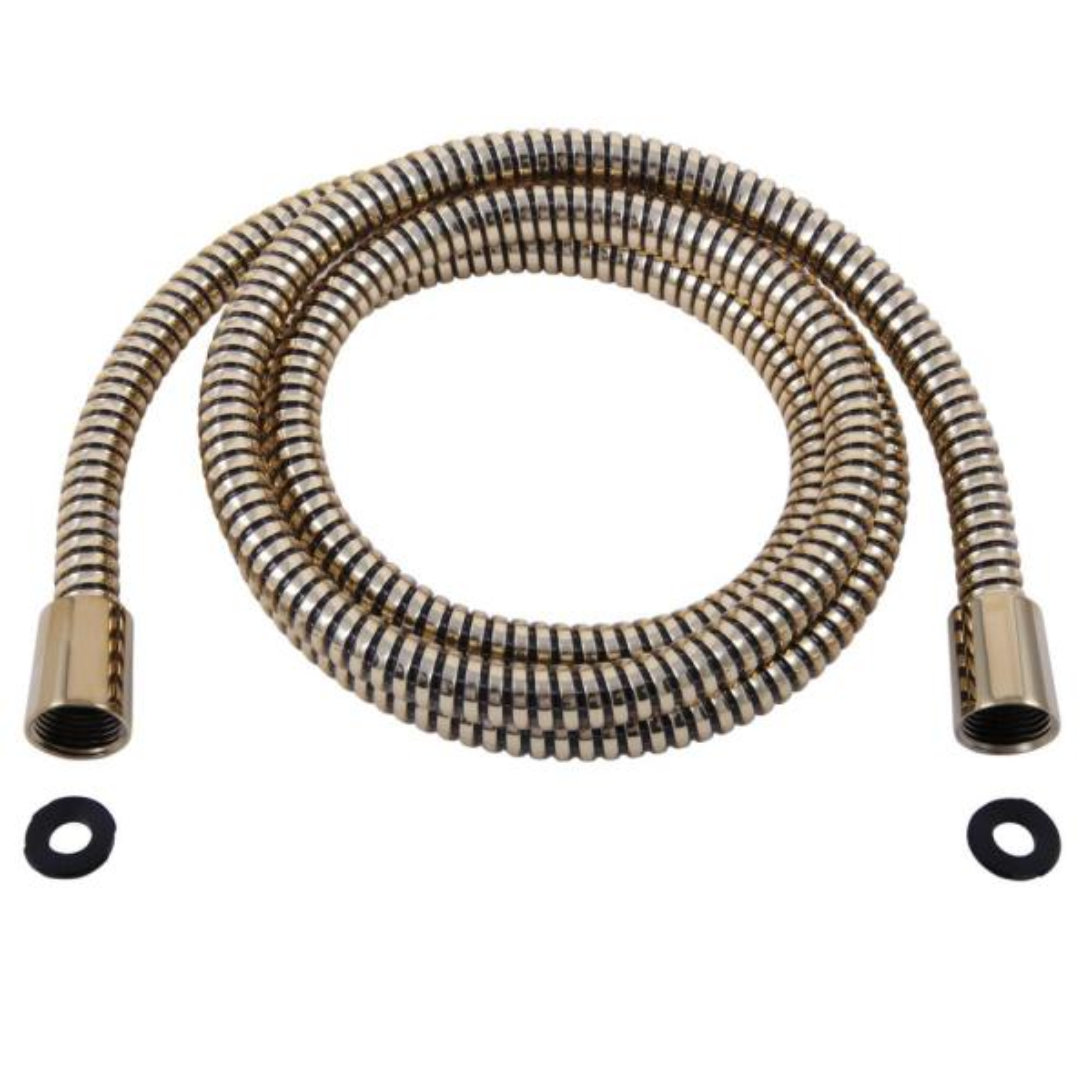 "Delta Universal Showering Components Hand Shower Hose & Gaskets - 69"" UltraFlex® in Polished Brass"