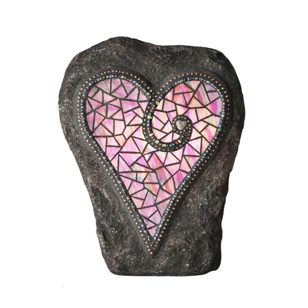 Chris Emmert Designs 11 in. Outdoor Polyresin LED Pink Heart