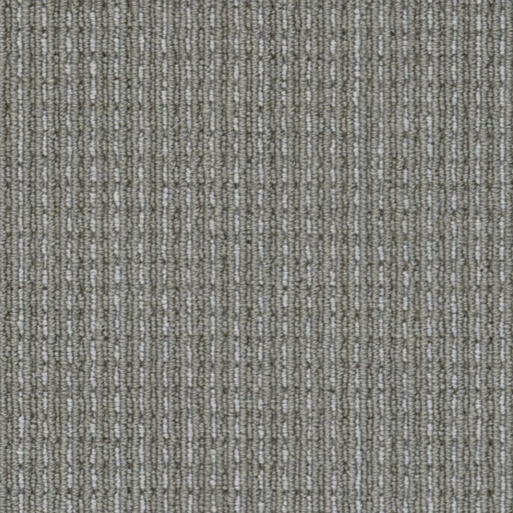 Carpet Sample - Upland Heights - Color Greystone Pattern Loop 8