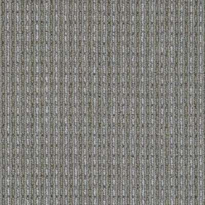 Carpet Sample - Upland Heights - Color Greystone Pattern Loop 8 in. x 8 in.