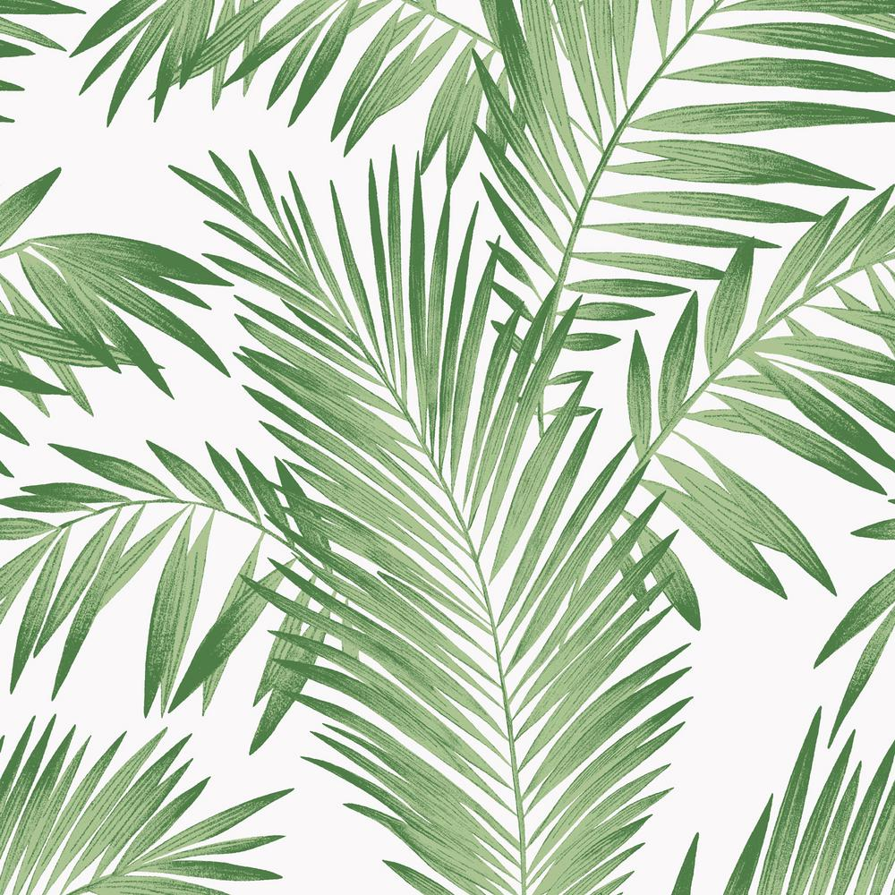 Arthouse Tropical Palm Green Wallpaper-694800 - The Home Depot