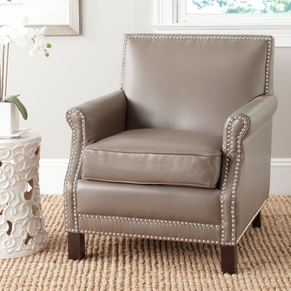 Safavieh Easton Clay/Espresso Bicast Leather Club Arm Chair
