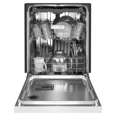 24 in. Front Control Tall Tub Dishwasher in White with Stainless Steel and Third Level Utensil Rack