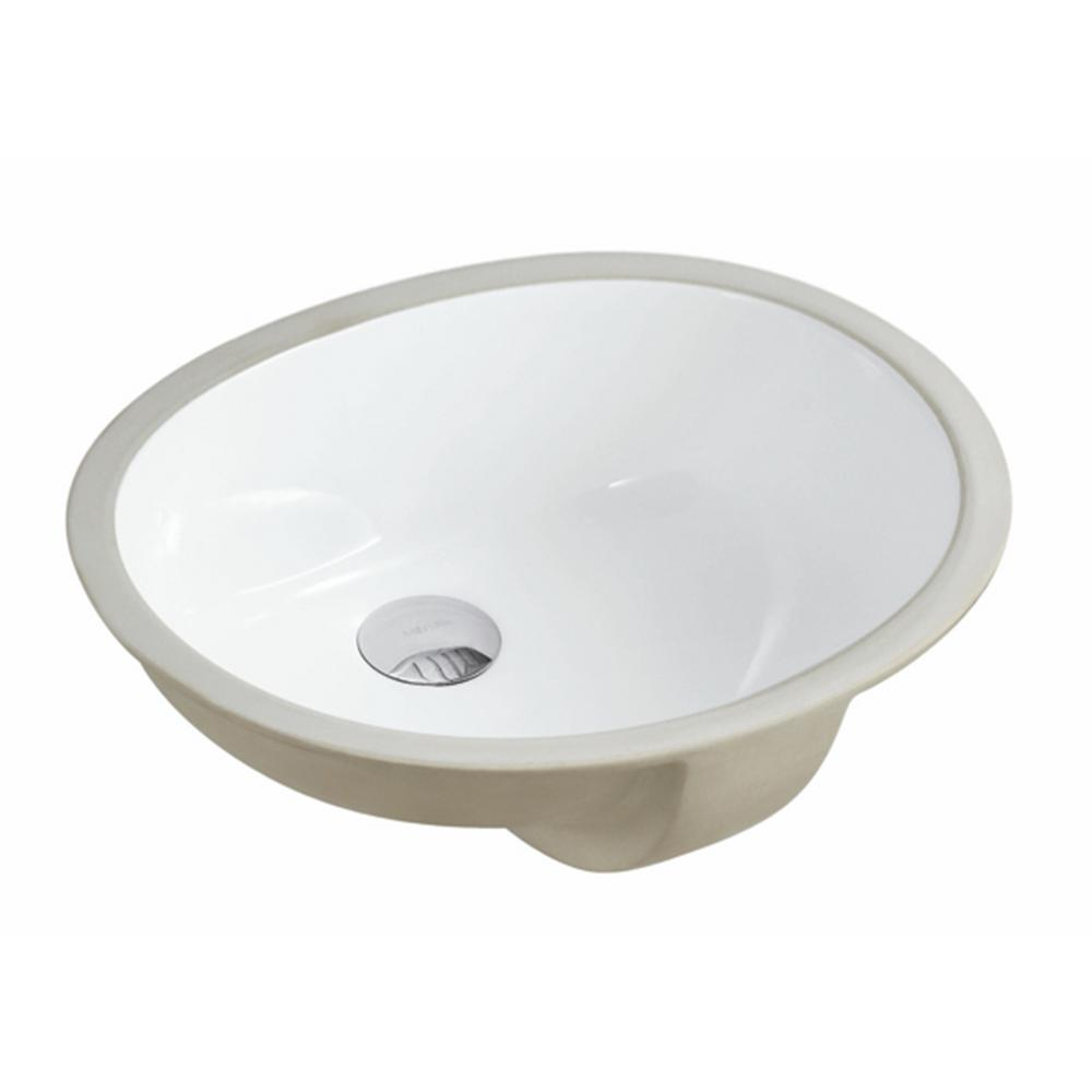 17-1/2 in. x 14-1/4 in. Oval Undermount Vitreous Glazed Ceramic Lavatory