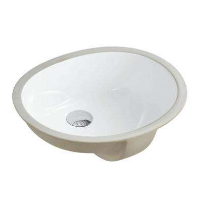 17-1/2 in. x 14-1/4 in. Oval Undermount Vitreous Glazed Ceramic Lavatory Vanity Bathroom Sink Pure White