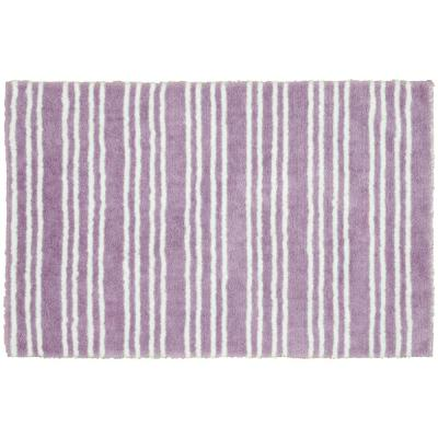 Baha Mar Purple/White 24 in. x 40 in. Striped Nylon Polyester Bath Mat