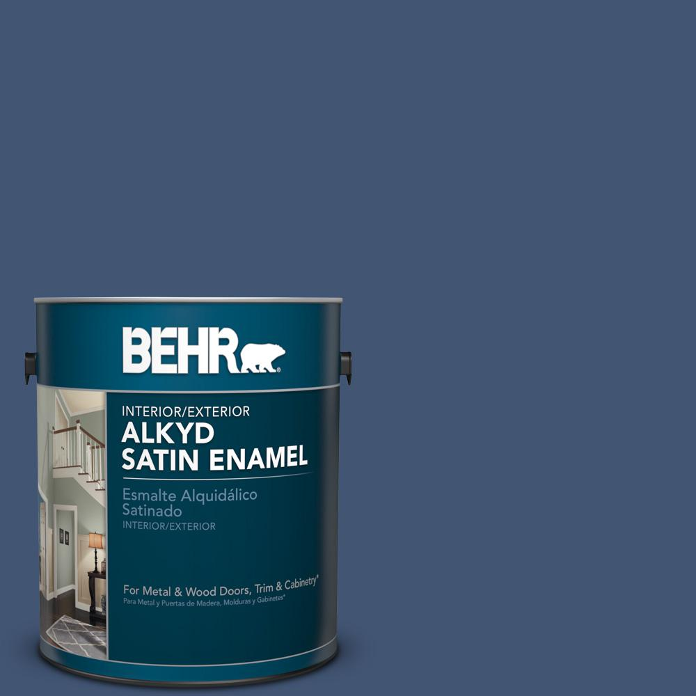 1 gal. #HDC-CL-26 Champlain Blue Satin Enamel Alkyd Interior/Exterior Paint