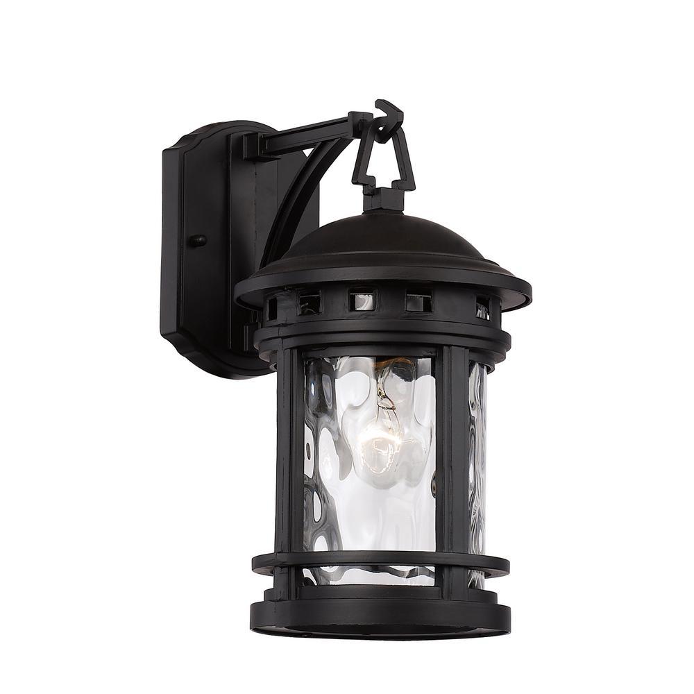 Bel Air Lighting Boardwalk 1 Light Black Outdoor Wall Lantern Sconce