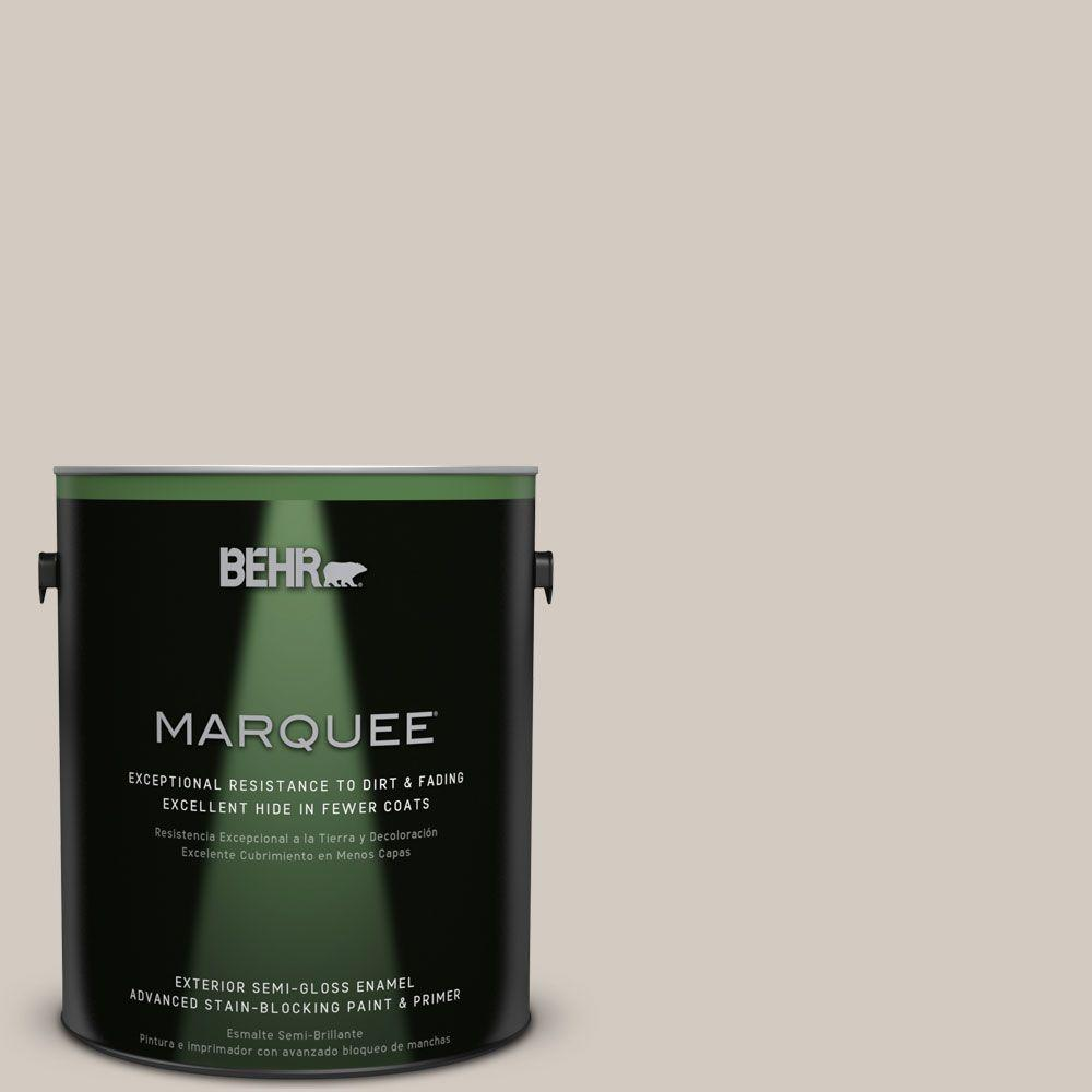 1-gal. #N320-2 Toasty Gray Semi-Gloss Enamel Exterior Paint