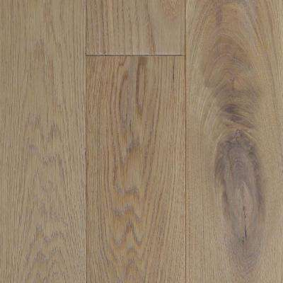 Take Home Sample - Castlebury Wim Borne Wire Brushed White Oak Engineered Hardwood Flooring - 5 in. x 7 in.