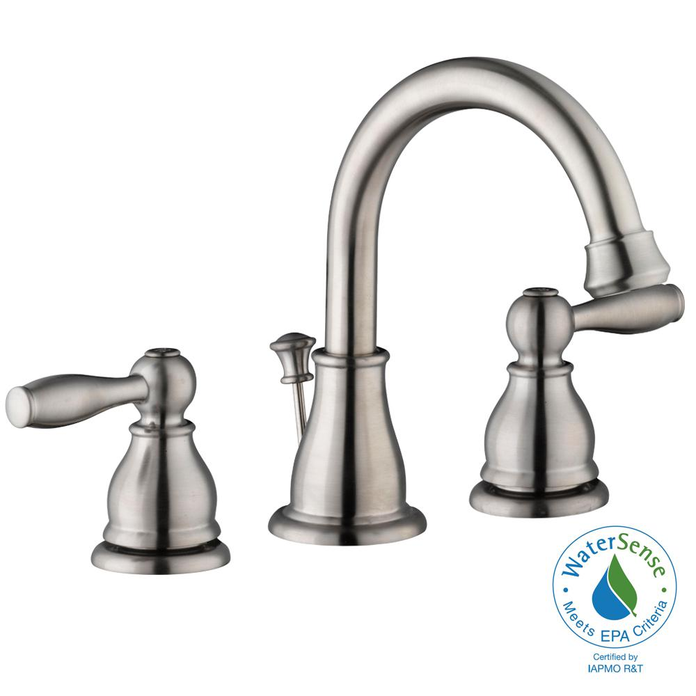 Glacier Bay Mandouri 8 In Widespread 2 Handle High Arc Bathroom Faucet