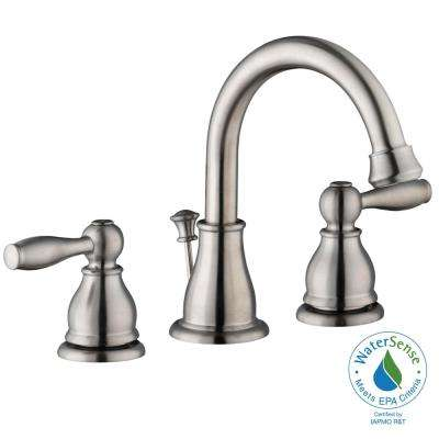 Mandouri 8 in. Widespread 2-Handle High-Arc Bathroom Faucet in Brushed Nickel