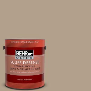 Behr Ultra 1 Gal Pwl 85 Stepping Stones Extra Durable Flat Interior Paint Primer 172401 The Home Depot