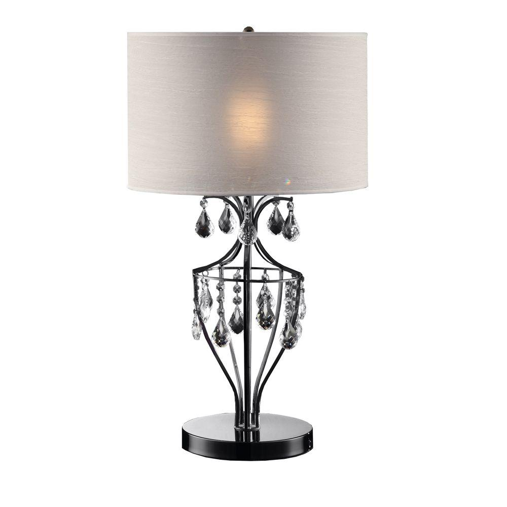HomeSullivan 29 in. Chrome Table Lamp