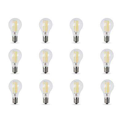 40W Equivalent (2700K) A15 Intermediate Dimmable Filament Clear Glass LED Ceiling Fan Light Bulb, Soft White (12-Pack)