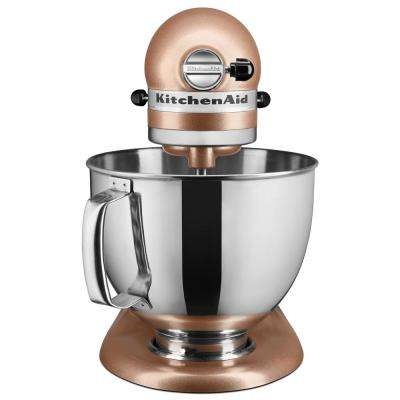 Artisan 5 Qt. 10-Speed Toffee Delight Stand Mixer with Flat Beater, Wire Whip and Dough Hook Attachments
