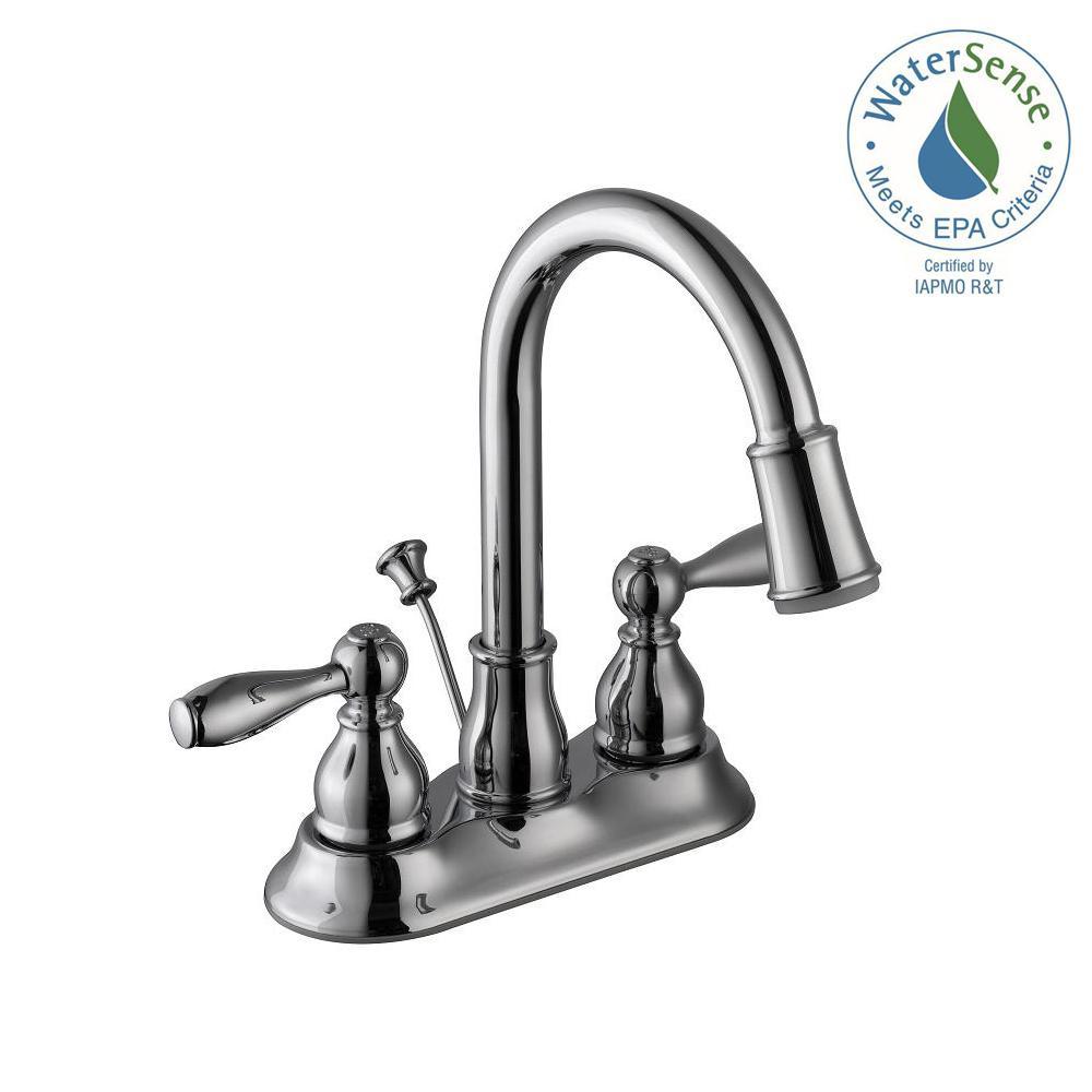 Bathroom Faucets Glacier Bay glacier bay mandouri 4 in. centerset 2-handle high-arc bathroom