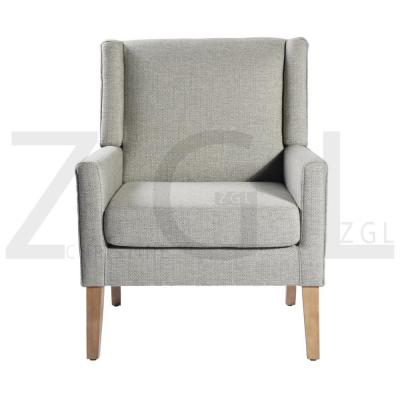 Classic Swoop Beige Arm Accent Chair Living Room Leisure Chair