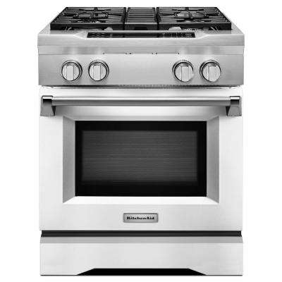 30 in. 4.1 cu. ft. Dual Fuel Range with Convection Oven in Imperial White