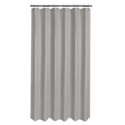 Luxury Spa Waffle 72 in. x 72 in. Fabric Shower Curtain in Grey