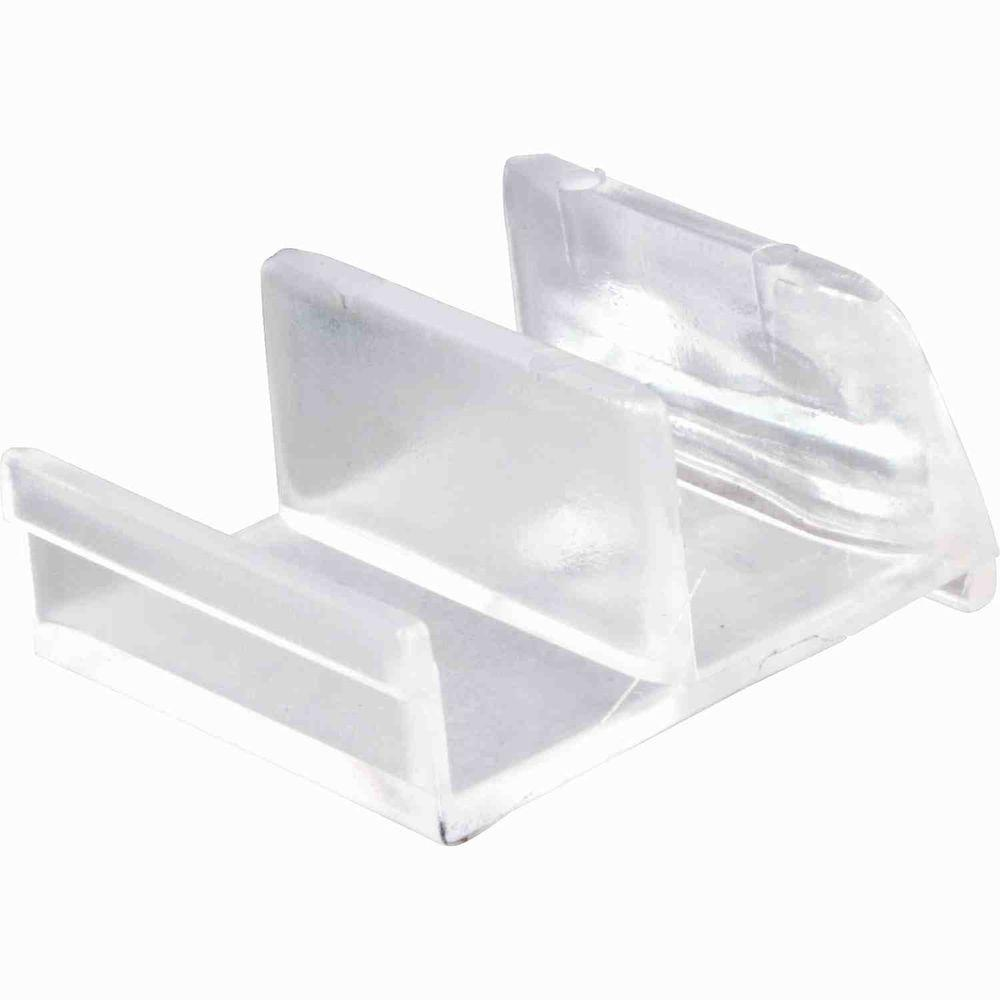 Prime Line Clear Acrylic Sliding Door Bottom Guide M 6111