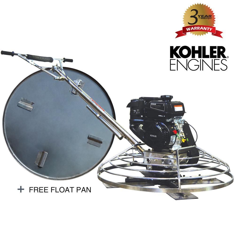 36 in. Kohler Concrete Power Trowel Powered by 6 HP CH260 Kohler Engine for Concrete Finishing