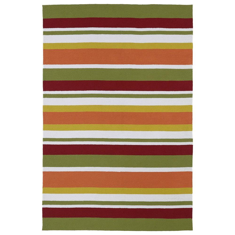 Kaleen Matira Tangerine 7 ft. 6 in. x 9 ft. Indoor/Outdoor Area Rug