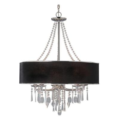 Tirani Collection 5-Light Chrome Chandelier