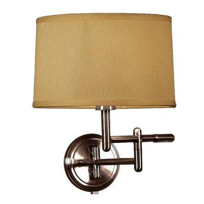 1 Light Oil Rubbed Bronze Wall Pivoter Swing Arm Lamp