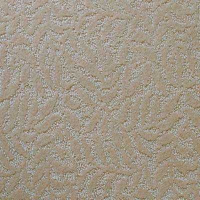 Carpet Sample - Fairlawn - Color Scrollwork Texture 8 in. x 8 in.