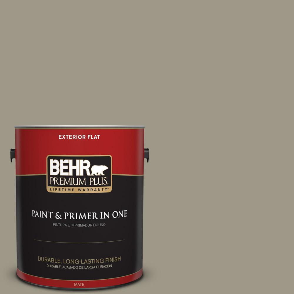 1 gal. #PPU8-20 Dusty Olive Flat Exterior Paint