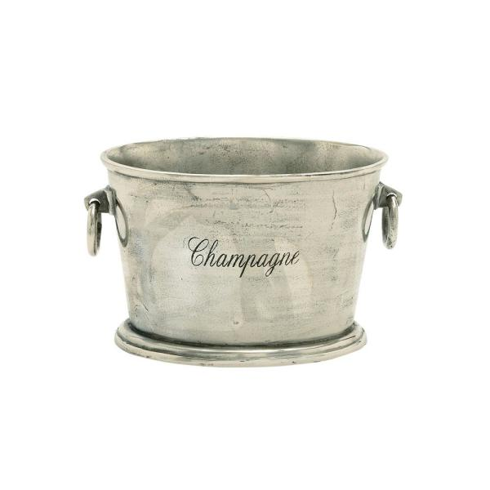 Litton Lane Silver Aluminum Bucket Wine Cooler With Loop Swing Handles