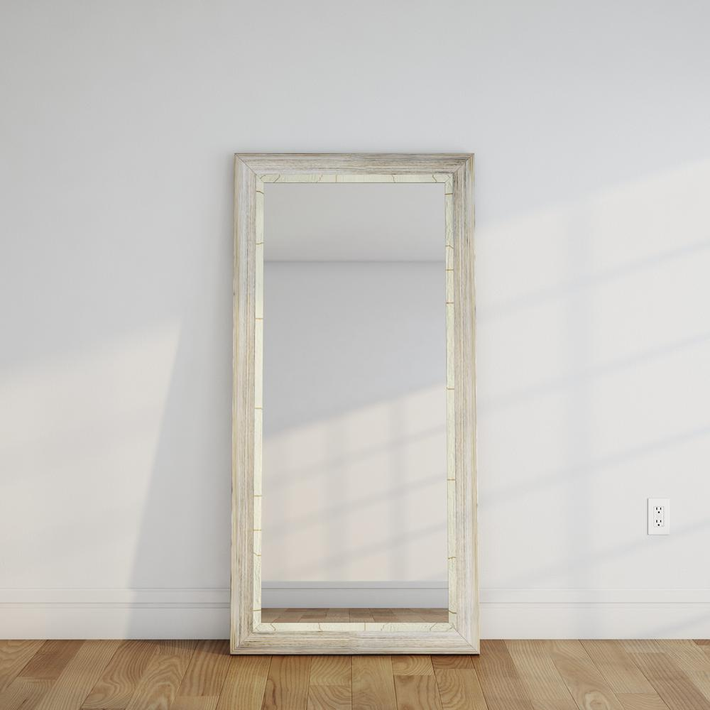 Weathered Beach Tall Floor Mirror-BM023TS - The Home Depot